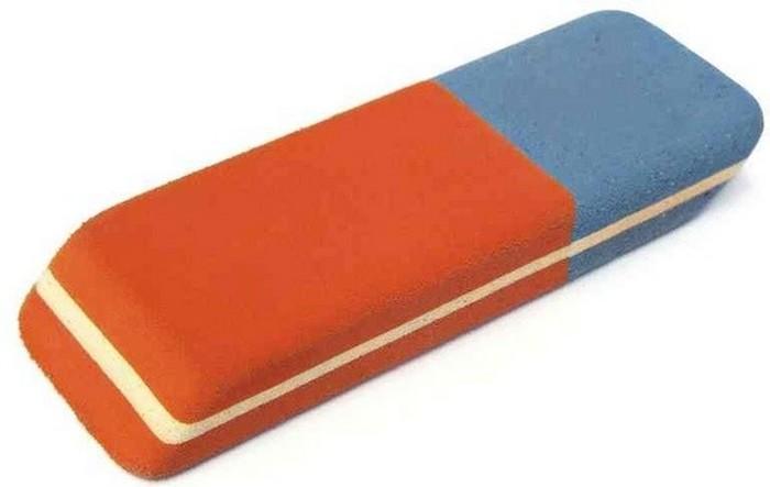 Blue tip of an eraser