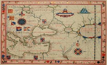 Map of Armenia By Fernão Vaz Dourado