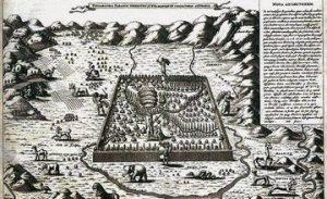 "The map of Armenia from Kircher's Book ""Noah's Ark"""