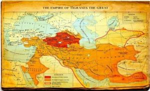 Map of The Empire of Tigranes II The Great