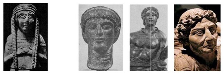 Statuette of a goddess, Etruscan figurines and tombstones (1st half of the 1st millennium BC).