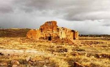 Pagan temple complex in Ogmik - Armenia