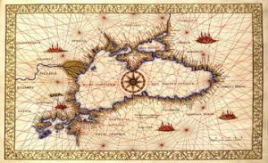 Old Nautical Maps of the Black Sea Region with Armenia