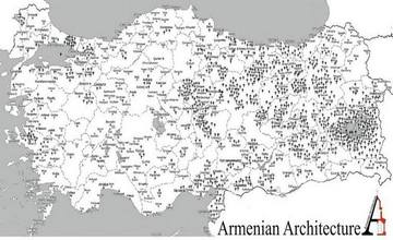 Map of Armenian Churches and Monasteries