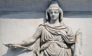Representation of Armenia on a Roman Temple