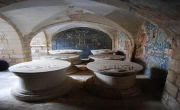Armenian Blue Ceramics on an Armenian Church of Mount Zion, Jerusalem