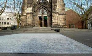 Square in German City of Bochum Made from Sevan Basalt Tiles