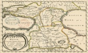 Map of Greater Armenia, Colchis, Iberia, and Albania - 1655