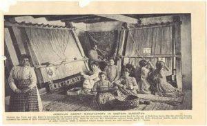 Image of Armenian Women Weaving Carpets - 1907