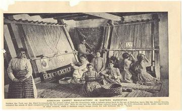Image of Armenian Women Weaving Carpets - 1907
