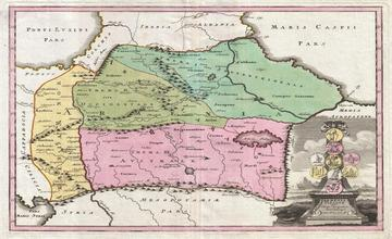 Map of the Caucasus by Christopher Weigel – 1720