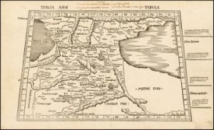 Map of the Armenia - XVI century - Tercia Asiae Tabula