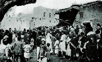 Photo of Armenians of Van at a Bakery