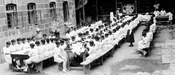 Orphanages in Armenia in 1920