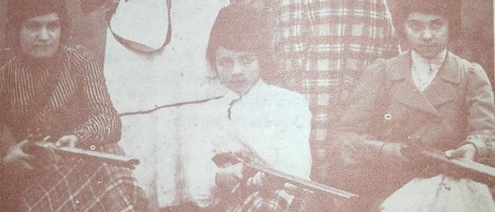 Historical Photo of Armed Armenian Women