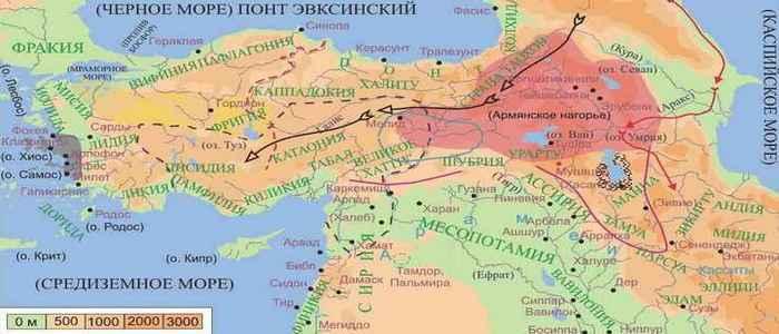 Armenian Highlands – Territory