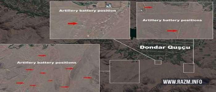 Azerbaijan places its artillery batteries