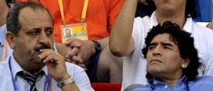 Diego Maradona in memory of the victims of the Armenian Genocide