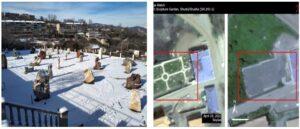 Azerbaijan destroyed statues in Shushi park