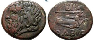 Ancient coin from Olbia in a historical picture associated with Armenia